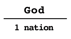 1nation under God